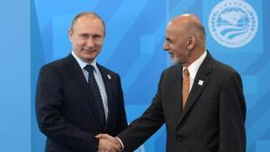 Russian President Vladimir Putin, left, Afghanistan's President Ashraf Ghani Ahmadza, SCO Summit 2015  (--Ria Novosti)