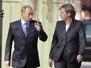 Vladimir Putin, Angela Markel (--almanar.com.lb)