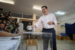 Greek Prime Minister Alexis Tsipras votes July 5 (--slate.com)