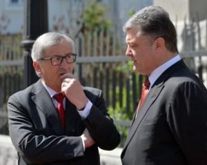 European Commission President Jean-Claude Juncker, Petro Poroshenko (--AFP / Genya Savilov)