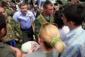 Alexander Zakharchenko addressing Donetsk rally June 15, 2015.