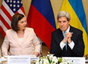 Victoria Nuland and John Kerry (--thepeoplesvoice.org)