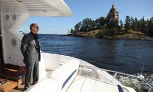 Vladimir Putin enjoys personal cruise (--theguardian.com)