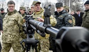 Petro Poroshenko (left), Turchinov (second from right) Ukrainian National Guard Unit Trains to 'Fight to the Death' (--newsweek.com)