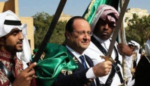 Francois Hollande, Saudi Arabia, Jan 2014 (--Global Research)