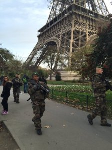 Police surround Eiffel Tower after Paris Attacks (--Nic Robertson/CNN)