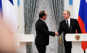 Francois Hollande, Vladimir Putin, Moscow, Nov 26, 2015