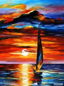 Toward the Sun by Leonid Afremov (--pinterest)