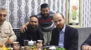 Bilal Erdogan, son of Turkey's President, having lunch with ISIS leaders.