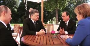 Normandy Four: Putin, Poroshenko, Hollande, Merkel