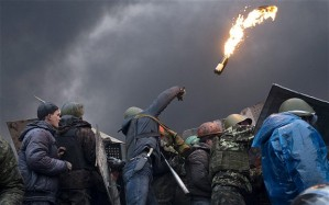 Protesters in Maidan, Kiev (--David Rose/Telegraph)