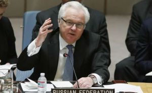 Vitaly Churkin, UN, March 6, 2015. (--Reuters)