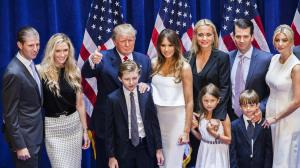 Donald Trump with family after candidacy announcement (--latimes.com)