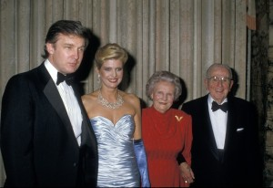 Trump and first wife, Ivana, with Ruth and Norman Vincent Peale at 90th birthday party, New York, May 26, 1988 (--washingtonpost)