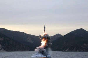 North Korea launches missile from submarine, April 24, 2016 (--Wall Street Journal)
