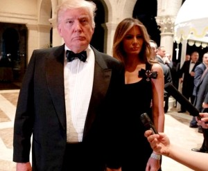 Donald Trump, Melania Trump, New Year's Eve, Mar-a-Lago in Palm Beach, Florida, December 31, 2016 (--from photo by AP/Evan Vucci)