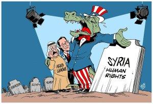 Cartoon posted at Moon of Alabama proves Bernhard's hypocrisy.