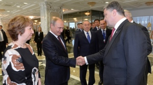 Vladimir Putin, Petro Poroshenko, Minsk, Belarus (--BelleNews.com)