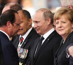 Hollande, Putin, Merkel in Minsk, Belarus (--joinfo.com)