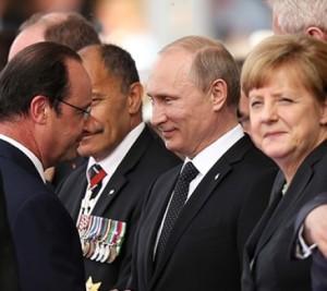Hollande, Putin, Merkel in Minsk, Belarus (--joinfo.com)