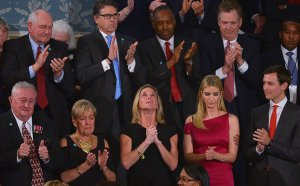 Trump honors US soldier's widow during Congress speech. (--Daily Sabah)