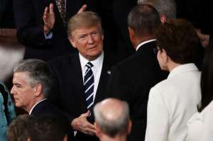 slavmar1-17z: President Donald Trump arrives to address joint session of US Congress, February 28, 2017 (--SFGate.com)
